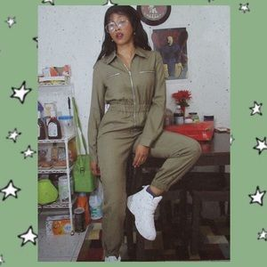 Green Chambray Boiler Suit
